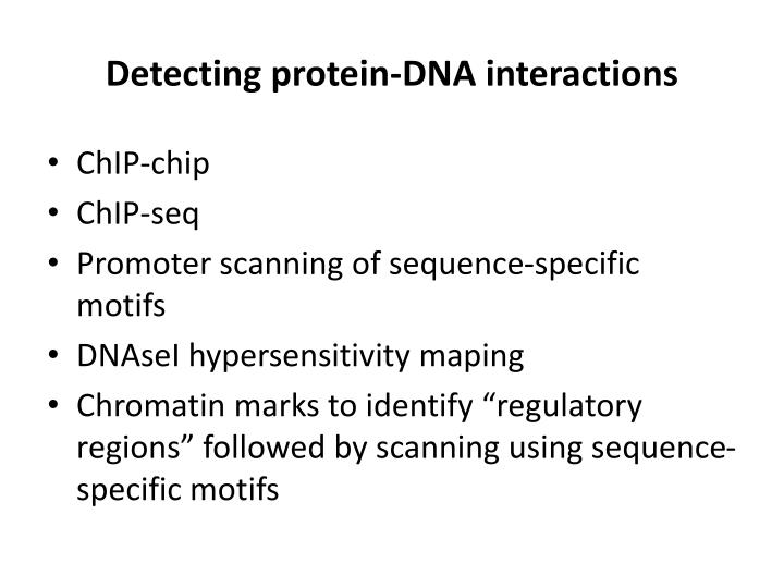 Detecting protein-DNA interactions