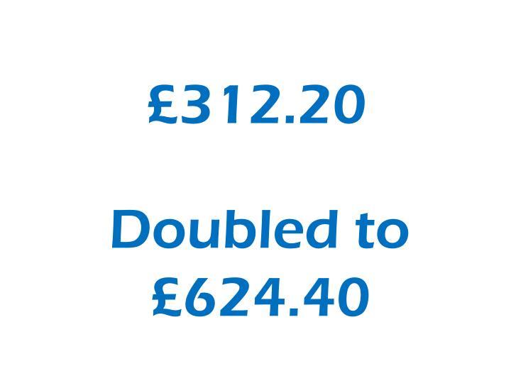 £312.20