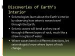 discoveries of earth s interior