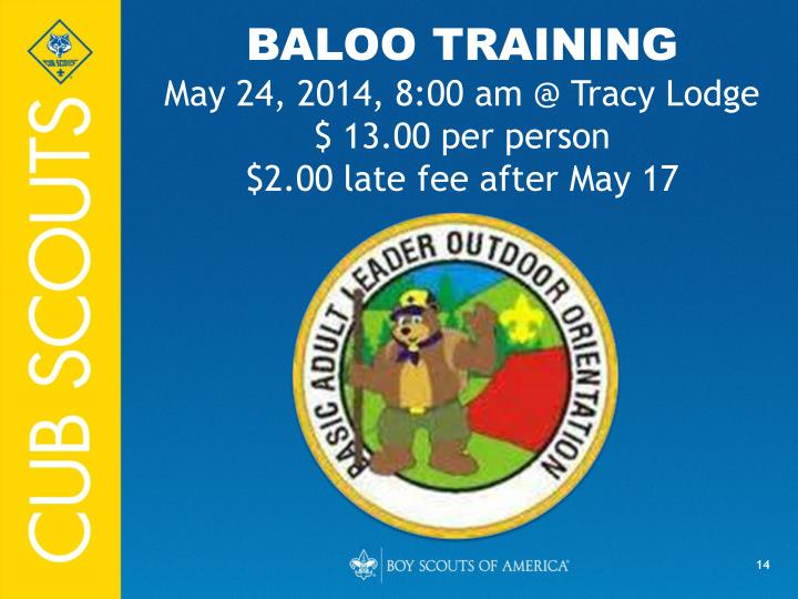 BALOO TRAINING