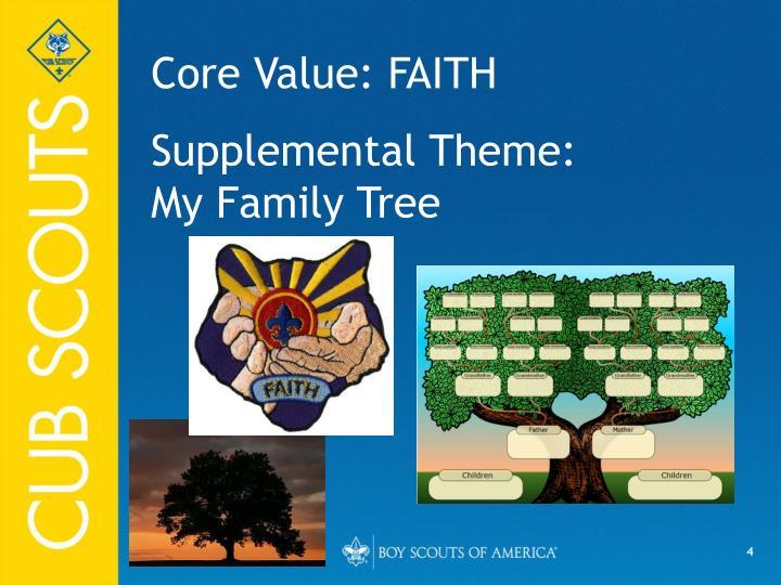 Core Value: FAITH