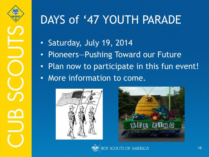 DAYS of '47 YOUTH PARADE