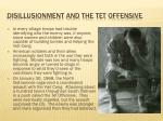 disillusionment and the tet offensive