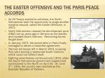 the easter offensive and the paris peace accords