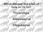 which dinosaur had a ball of bone on its tail