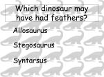 which dinosaur may have had feathers