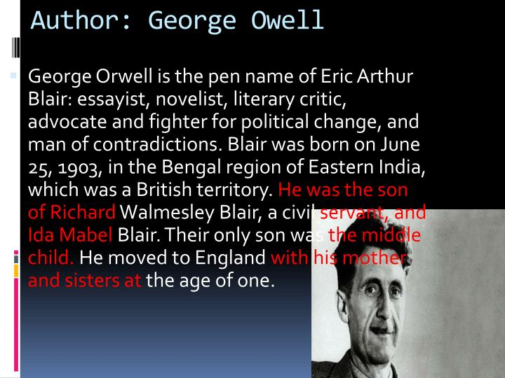 Author george owell