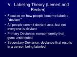 v labeling theory lemert and becker