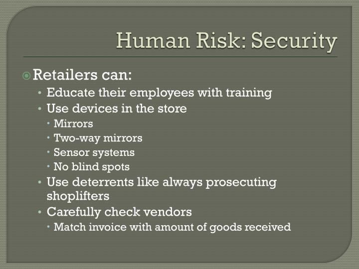 Human Risk: Security