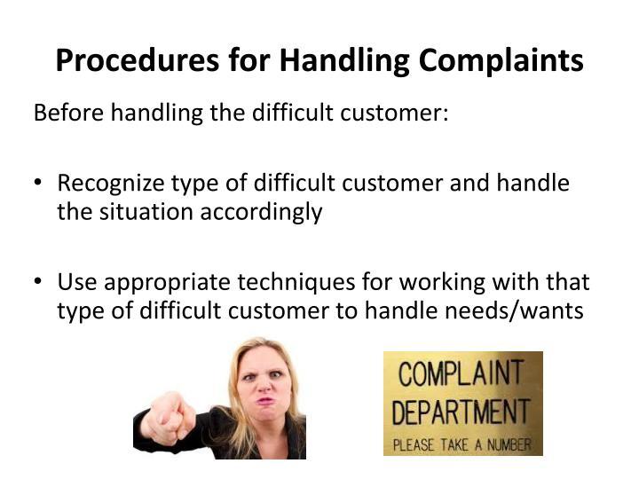 Procedures for Handling Complaints