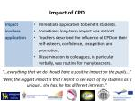 impact of cpd