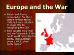 europe and the war