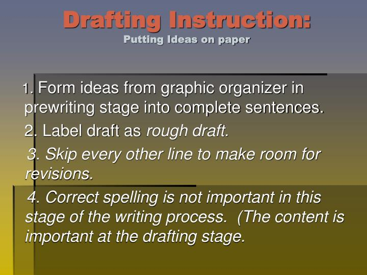 Drafting Instruction: