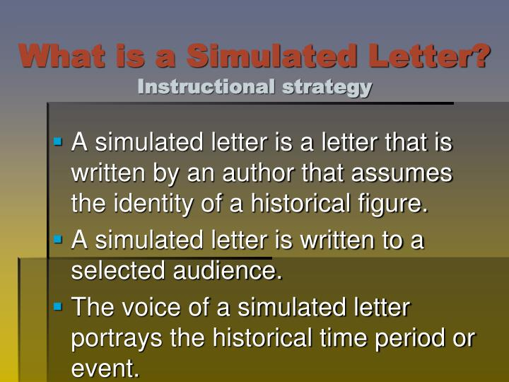 What is a simulated letter instructional strategy