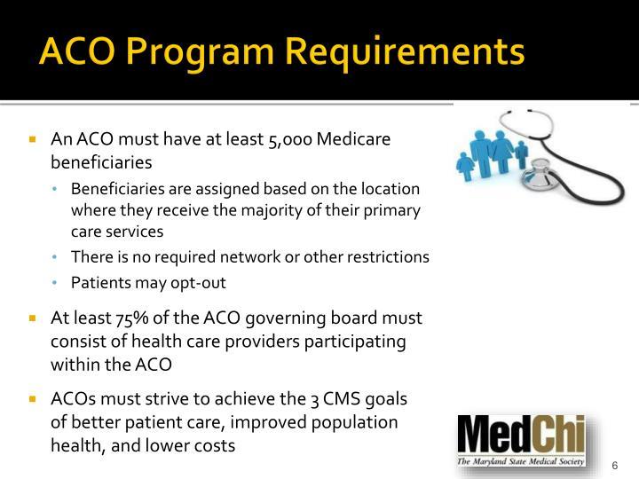 ACO Program Requirements