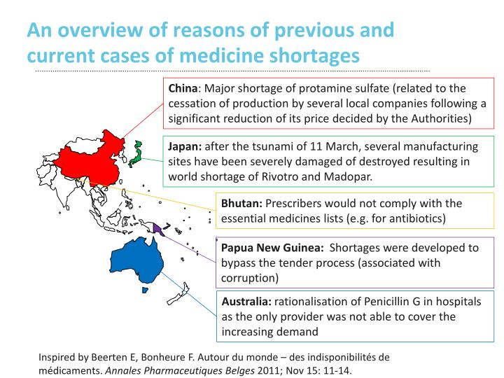 An overview of reasons of previous and current cases of medicine shortages