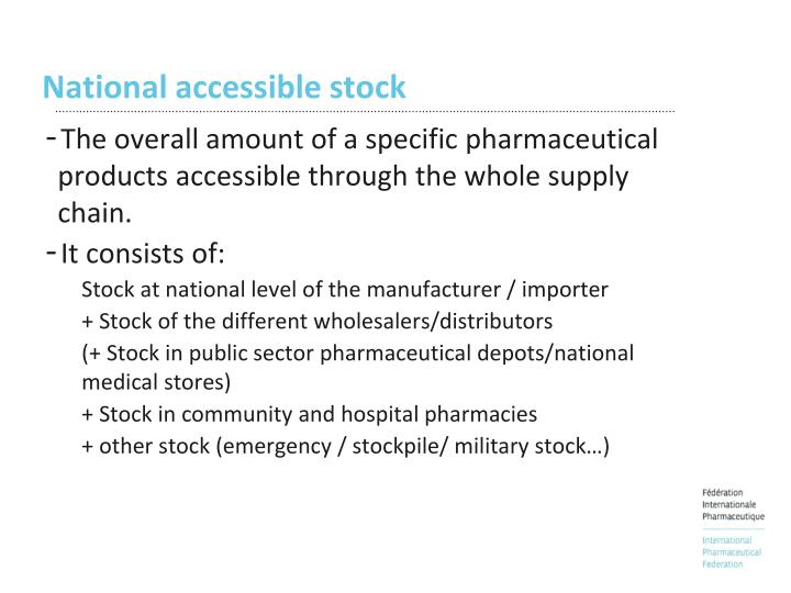 National accessible stock