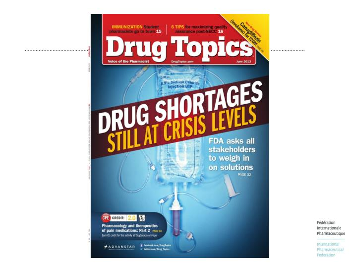 Causes and contributing factors of the medicines shortage
