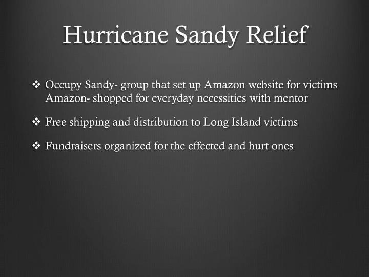 Hurricane Sandy Relief