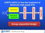 eortc 62012 in first line treatment of advanced high grade sts