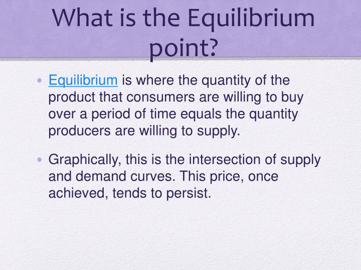 What is the equilibrium point