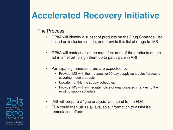 Accelerated Recovery Initiative