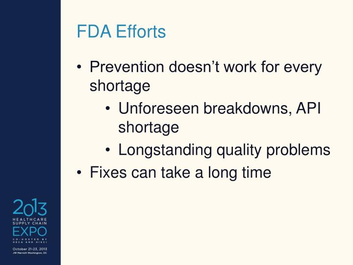 FDA Efforts
