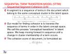 sequential term transition model sttm sequential segment cohesion 2 4