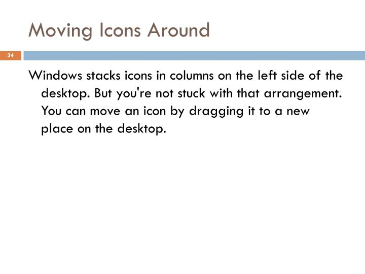 Moving Icons Around