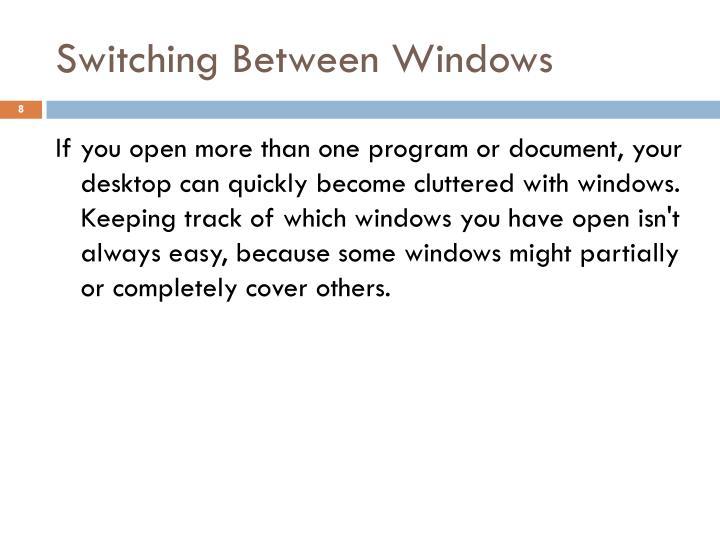 Switching Between Windows