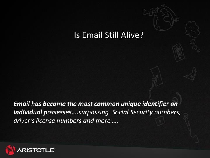 Is Email Still Alive?