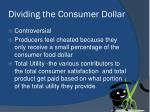 dividing the consumer dollar