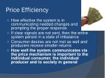 price efficiency