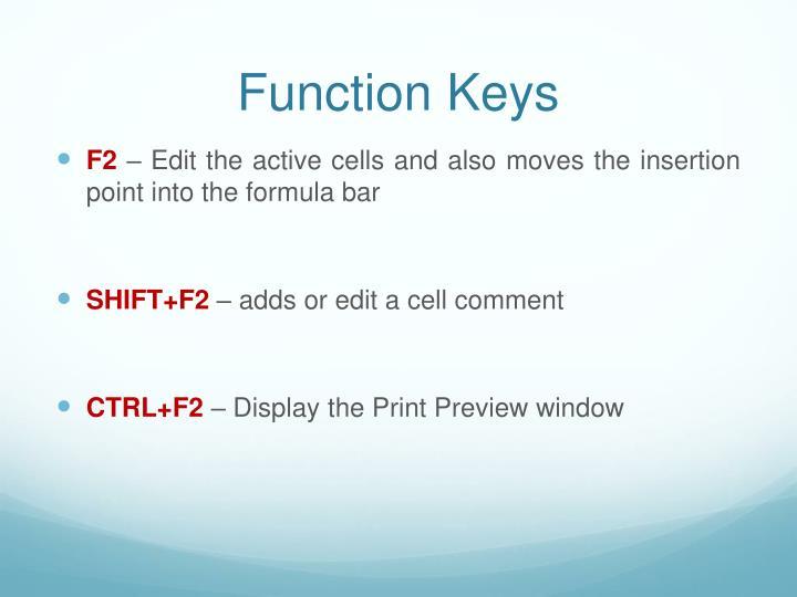 Function keys1