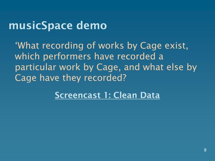 musicSpace demo