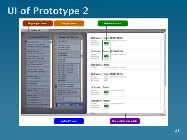 UI of Prototype 2