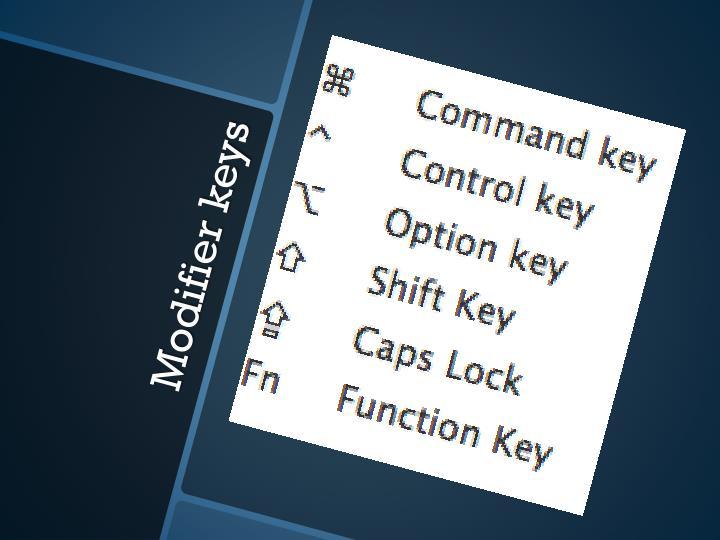 Modifier keys1
