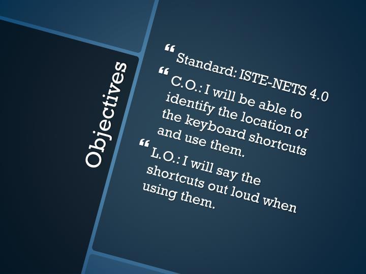 Standard: ISTE-NETS 4.0
