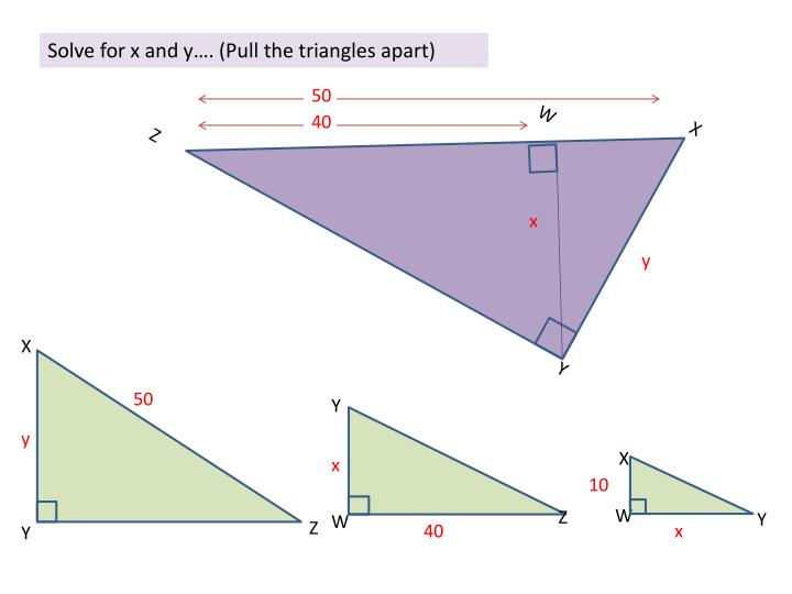 Solve for x and y….