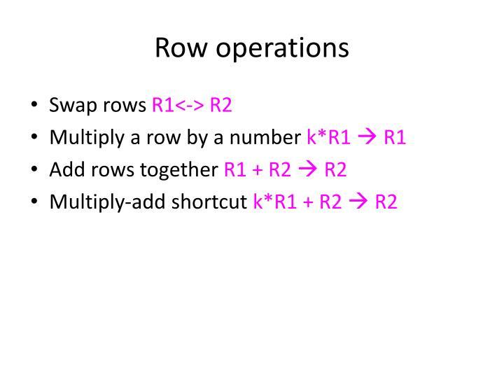 Row operations