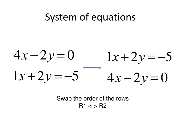 System of equations1
