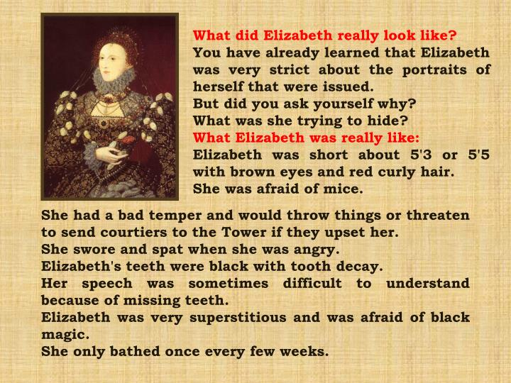 What did Elizabeth really look like?