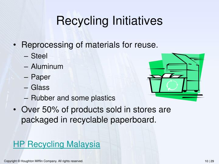 Recycling Initiatives