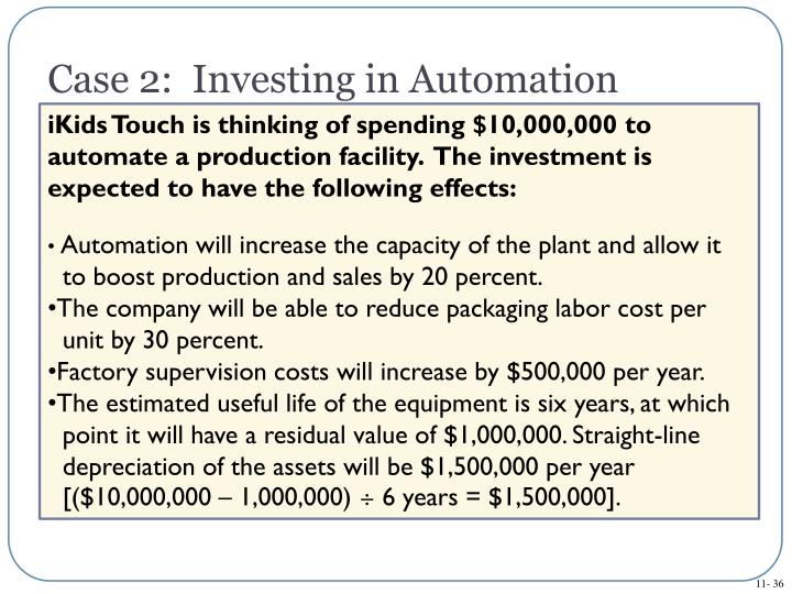 Case 2:  Investing in Automation