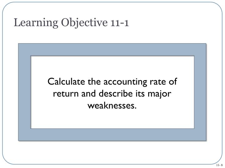 Learning Objective 11-1