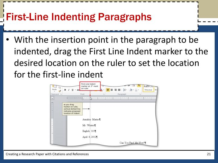 First-Line Indenting Paragraphs