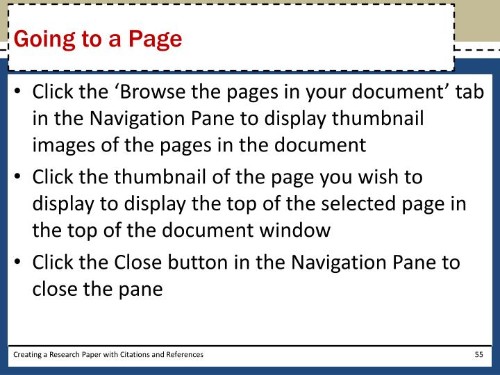 Going to a Page