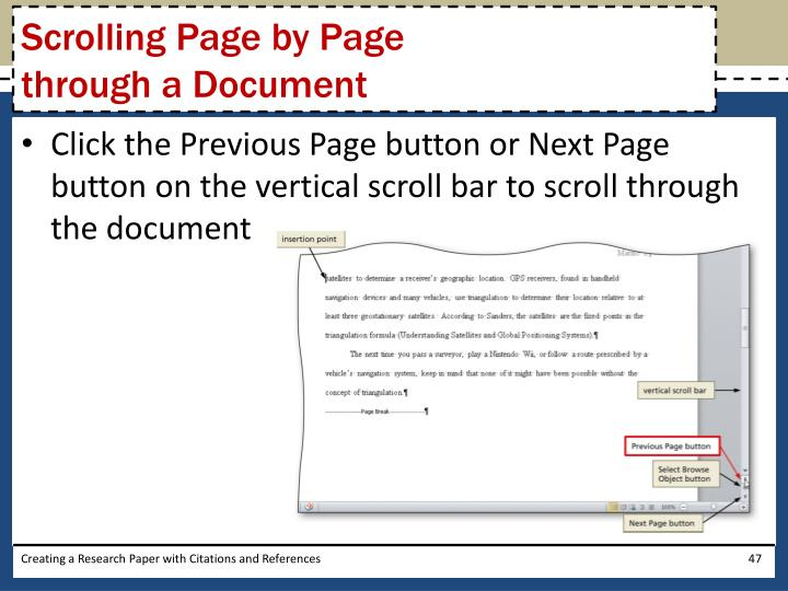 Scrolling Page by Page