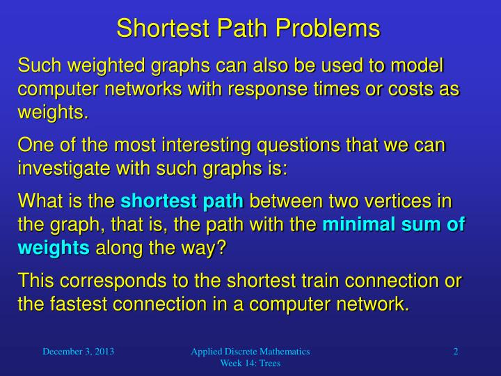 Shortest path problems1