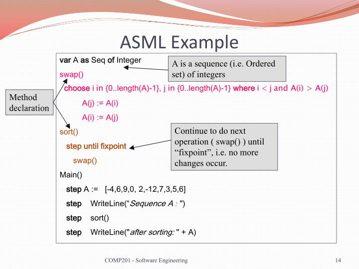 ASML Example